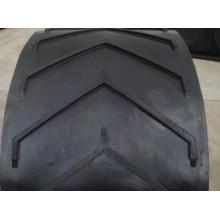 Correa transportadora de goma Chevron para la transmisión de material grande