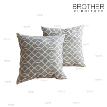 Cubierta de almohada decorativa del amortiguador de tela estándar de América