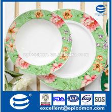 Flores decoración platos de cerámica placas de porcelana