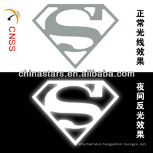 customized superman heat transfer reflective brand