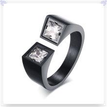 Jóia de cristal anel de moda de aço inoxidável (SR259)