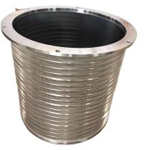 Headbox Pulping Paper Machine Stainless Steel Wedge Wire Basket