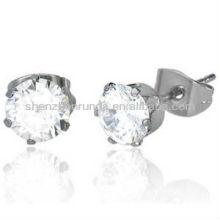 Großhandel Edelstahl Kristall Ohrring für Frauen Mode Nette Ohrringe Schmuck