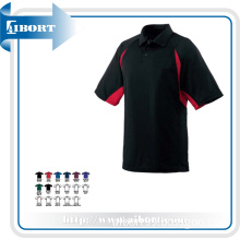Man's Short Sleeve Red and Black Polo Shirt
