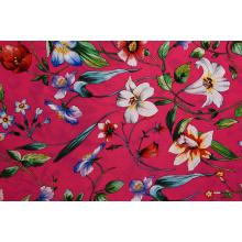 Tecidos impressos com padrão de flor rosa de alta qualidade