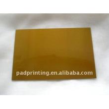 Hot foil carimbar placa de polímero com pase de aço para venda