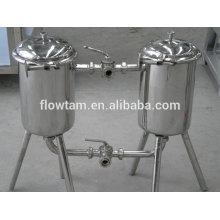 sanitary industrial stainless steel 304 or 316 double-barrel filter