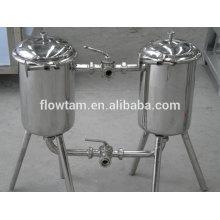 Санитарная промышленная нержавеющая сталь 304 или 316 двухстволь- ный фильтр