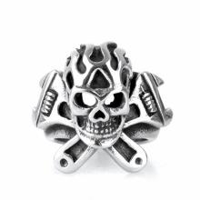 Accesorios de moda anillos de calavera de acero de titanio