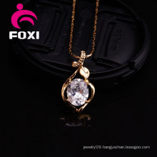 Elegant Silver Zircon Gemstone Pendant for Girls