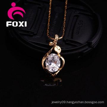 Elegant Silver Zircon Gemstone Pendant for Girls