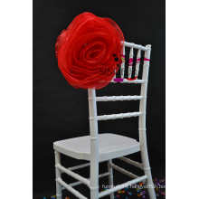 wedding organza chair cover chair flower