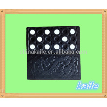 Black wooden domino