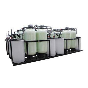 Dual Tank Ununterbrochen 24 Stunden laufen automatischer Wasserenthärter