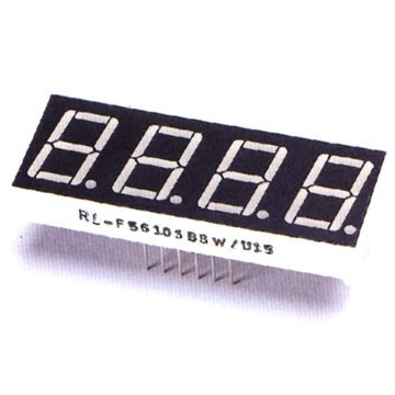 Quadruple Digit 7 Segment LED Display