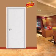 Portas de vidro elegante Interior folheado de madeira