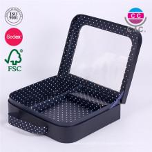 Изготовленное на заказ печатание картона бумага чемодан Коробка подарка формы с окном PVC