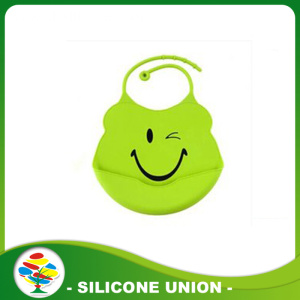 Wholesale Easily Wipe Clean Baby Waterproof Silicone Bib