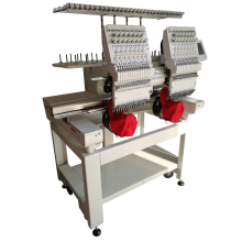 Double head embroidery machine,lower price computerized embroidery machine