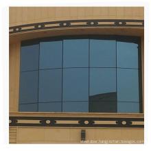Residential modern style aluminum frame glass curtain wall detail dwg