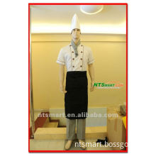 2012 white soft chef uniform in high quality