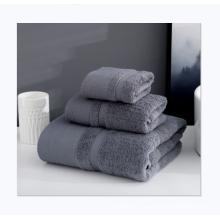 Customizable logo 3pcs cotton thick soft absorbent hotel bath towels set