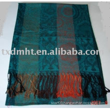 Acrylic scarf with fashion style , best price , hight quality for lady