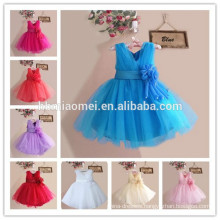 Colorful flower girl dress of 9 years old birthday party