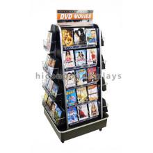 Tienda de venta al por menor práctica 5-Layer rodó 50 bolsillos Almacenaje del DVD de la película Unidades libres de la exhibición