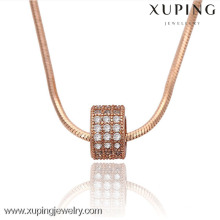 42849 xuping jewellry Collier Chaîne Pendentif Plaqué Or Rose Fashion 2016
