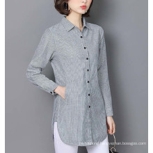 Women Striped Blouse Shirts Spring Autumn for Lady Work Tops
