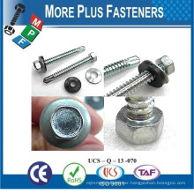 Made In Taiwan Diameter M3 to M12 Length 25mm to 300mm Hex Head Slot Recess Wafer Head Phil Recess Indent Self Drilling Screws