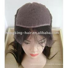 Полный парик шнурка с хиден узлы, впрыска, узлы, шелковый топ