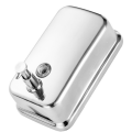 Dispensador de jabón manual montado en la pared de metal