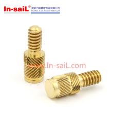2016 inserto de tornillo de cobre amarillo de la venta caliente para la caja de plástico China
