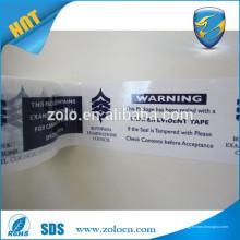Prix réduit Emballage moderne Bopp Coloré Sécurité Void transfert adhésif Rouleau de bande