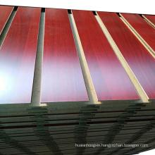 cheap slatwall/laminated slatwall/colored slotted mdf