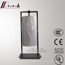 Lampe de table en métal noir perle décorative de haute qualité