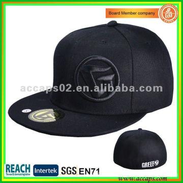 Sombreros negros del snapback del flexfit