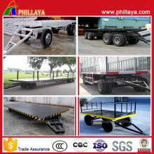 Mini Container Full Trailer Flatbed Drawbar Truck