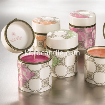 Eco-Wick fragrant candles in ceramic container