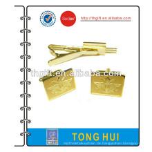 Metall Manschettenknopf mit Vergoldung Design