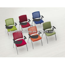 T-083SH-Y stackable conference room chair with writing tablet