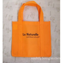 Fold Over Reinforced Die Cut Handle Pp Non Woven Bags / Plain Or 1-8 Color Printed