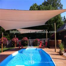 HDPE + UV stabilisé piscine ombre au soleil voile