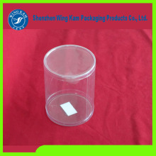customize t-shirt plastic pvc transparent tube cylinder packaging made in Shenzhen