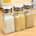 Ensemble de verrerie à base de verre Bouteille en verre à condiment pour épices / sauce au soja / vinaigre