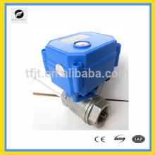 """CWX-15n 12vdc bronze 1/2 """"CR04 válvula de esfera de controle de fluxo de água elétrica de tipo aberto normal para equipamento de detecção de vazamento de água"""