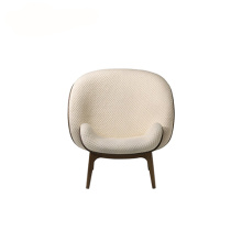 Bergere Tunggal kursi Hug Fabric Lounge Armchair