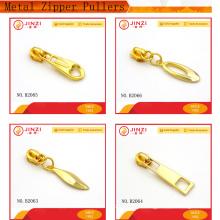 Metal zipper puller personalizado metal zíper puxa slider zíper para vestuário